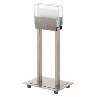 Eglo 93734 Clap 1 LED Tischleuchte Klar Weiß Nickel-Matt