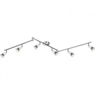 Globo 57996-6 Fina Deckenleuchte Chrom Metall Weiß 6xGU10 LED - Vorschau