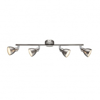 Wofi Lester LED Deckenspot 4-flammig Nickel matt Chrom 725104540000