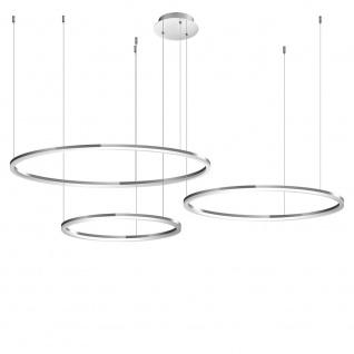 s.LUCE pro LED-Hängeleuchte Ring M Ø 60cm Weiß Design Hängelampe Ringleuchte - Vorschau 3