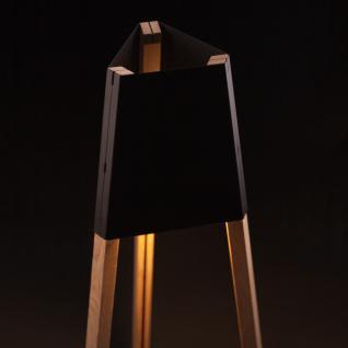 licht trend la3b 50 tischleuchte mit holzfu aus eiche schwarz dreibeinleuchte kaufen bei. Black Bedroom Furniture Sets. Home Design Ideas