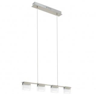 Eglo 93731 Clap 1 LED Hängeleuchte 4-flammig Weiß Klar Nickel-Matt