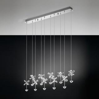 Pianopoli Kristall LED Hängeleuchte chrom 10 x 2, 5W Hängelampe