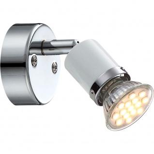 Globo 57996-1 Fina Wandleuchte Chrom Weiß GU10 LED