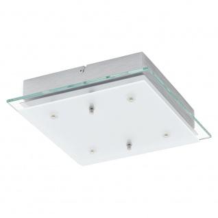 Eglo 93888 Fres 2 LED Wand- & Deckenleuchte 4-flammig Klar Weiß Chrom