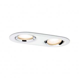 Paulmann Premium EBL Set Nova IP65 oval LED 1x2x7W GU10 Ws m-Chrom Alu Zi 92901