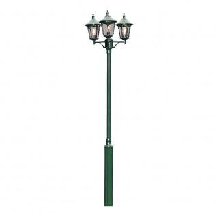 Konstsmide 573-600 Virgo Leuchtenkopf 3-tlg. für Mastleuchte Grün rauchfarbenes Acrylglas