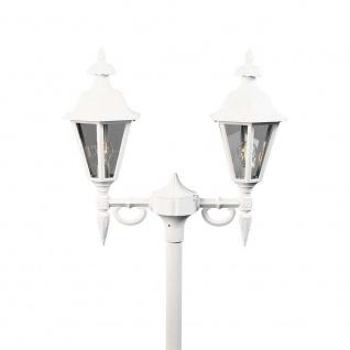 Konstsmide 527-250 Pallas Leuchtenkopf 2-tlg. für Mastleuchte Weiß rauchfarbenes Acrylglas