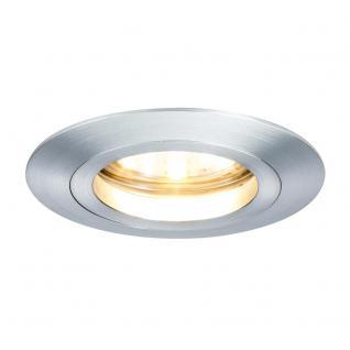 Paulmann 928.09 3er LED Einbauleuchten-Set Coin klar rund 7W Alu / dimmbar