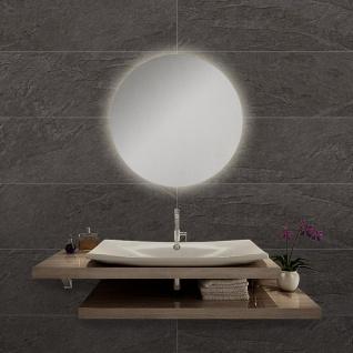 LED Bad Spiegel Diann M Ø 45cm mit Hintergrundbeleuchtung