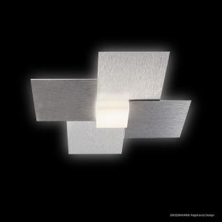 Grossmann 51-770-072 Creo LED-Deckenleuchte 1-flammig 27 x 27cm Alu-matt