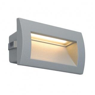 SLV Downunder OUT LED M Wandeinbauleuchte Silbergrau 233624