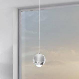 s.LUCE Beam LED Hängeleuchte mit Glaslinse Ø 12cm Hängelampe Chrom