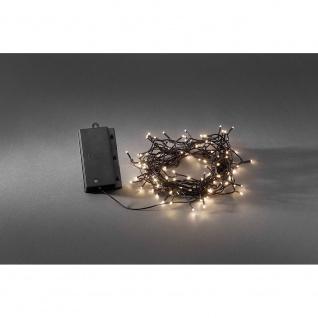 LED Lichterkette Lichtsensor Timer 240 Warmweiße Dioden batteriebetrieben für Aussen