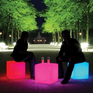 Moree Outdoor Akku LED Sitzwürfel Cube mit Farbwechsel IP54 / LED Würfel Hocker