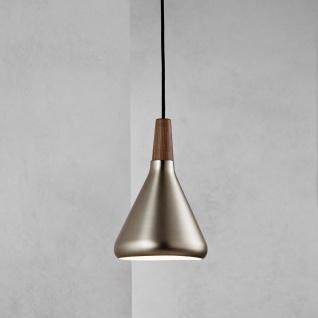 Licht-Trend Pinzantero 1 Stahl-Pendelleuchte Ø 18cm Walnuss-Holz