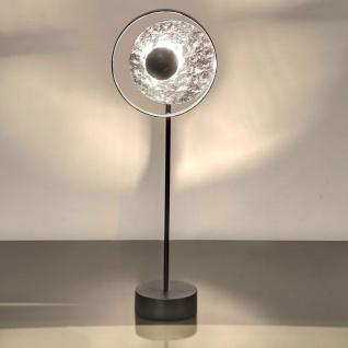Holländer 300 K 12223 S Tischleuchte Satellite Eisen Schwarz-Silber