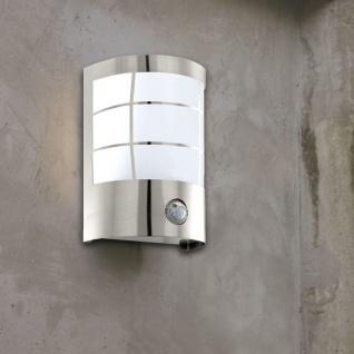 Cerno LED Aussen-Wandleuchte mit Bewegungsmelder Edelstahl Wandlampe