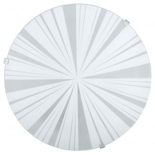 Eglo 89239 Mars 1 Wand- & Deckenleuchte Ø 24, 5cm Motiv Strahlen Weiß