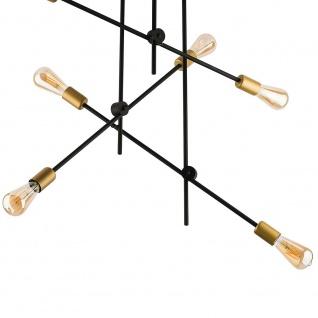Licht-Trend Retro Deckenlampe Axis 6-flg. Schwarz Deckenleuchte
