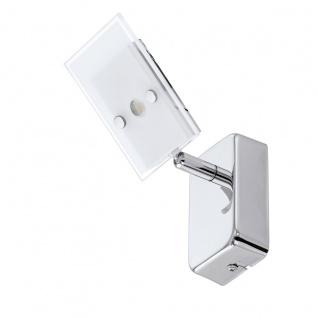 Eglo 94162 Ervas LED Spot 1 x 33 W Stahl Chrom Glas satiniert Weiss klar