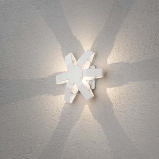 Konstsmide 7977-250 Pescara LED Aussen-Wandleuchte Weiß klares Acrylglas