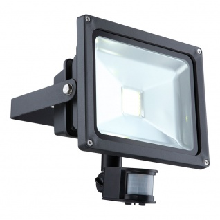 Licht-Trend LED-Fluter + Sensor Aussenstrahler mit LED-Technik Wandlampe Aussen
