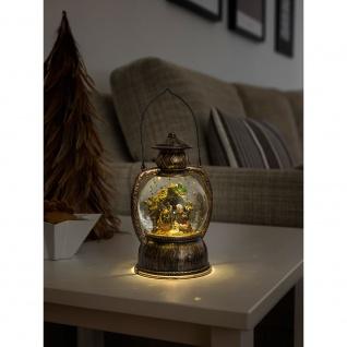 """Konstsmide 3499-000 LED Kugellaterne """" Weihnachtskrippe"""" wassergefüllt warm weiß batteriebetrieben für Innenbereich"""