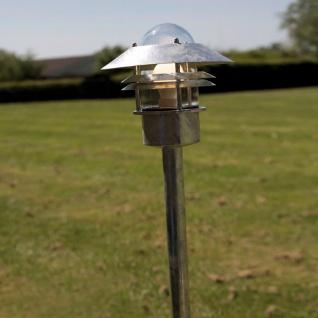 Licht-Trend Robston Aussen-Standleuchte 92 cm / Zink / Pollerlampe Sockellampe