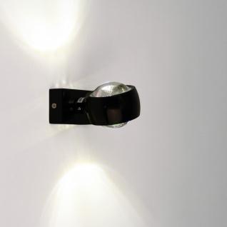 s.LUCE Beam Wandleuchte Up&Down mit Glaslinsen Wandlampe Schwarz