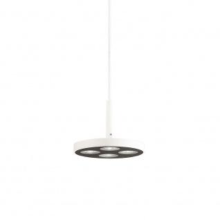 Ideal Lux LED Hängeleuchte Garage 4-flg. Rund Weiß 205847