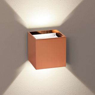s.LUCE pro Würfelförmige LED Wandleuchte Ixa + verstellbare Winkel Kupfer Wandlampe