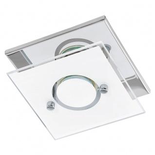 Eglo 94372 Varallo LED Wand & Deckenleuchte 1 x 3 W Edelstahl Chrom Glas Weiß lackiert