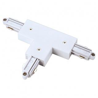 SLV T-Verbinder für 1-Phasen HV-Stromschiene Aufbauversion weiss Erde Links 143071