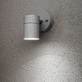 Konstsmide 7572-300 Modena Aussen-Wandleuchte Grau klares Glas Reflektor