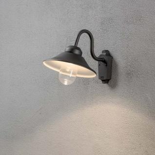 Konstsmide 564-750 Vega LED Aussen-Wandleuchte 700lm 3000K Schwarz klares Glas