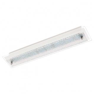 Eglo 94451 Priola LED Wand & Deckenleuchte 2 x 45 W Stahl Weiss Chrom Glas mit Struktur Wei