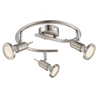 Globo 54382-3 Rail LED-Strahler Nickel-Matt 3xGU10 LED