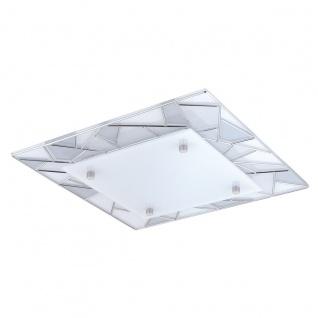 Eglo 94581 Pancento 1 LED Wand & Deckenleuchte 97 W Stahl Chrom Glas satiniert Weiß Grau