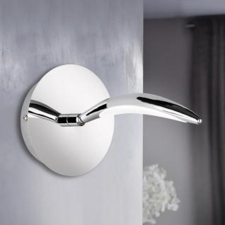 Wofi Neigbarer LED Wandspot HAMPTON mit Schalter 460lm Chrom 4326.01.01.5000