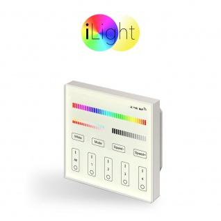 s.LUCE iLight Einbau-Touch Panel für LED-Leuchtmittel RGB + CCT Schalter Fernbedienung
