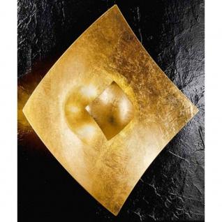 Kögl 26713 Quadrangolo Gold Wand- & Deckenleuchte Glas 18cm