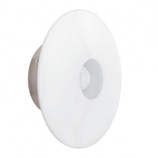 Eglo 94426 Milea 1 LED Wandleuchte 1 x 45 W Stahl Nickel-Matt Glas Weiß lackiert
