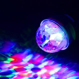 E27 Party-Leuchtmittel Disco-Effekt rotierend RGB-LED Funkelnde Lichtpunkte