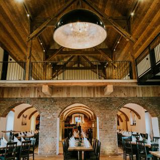 s.LUCE Hall XXL Hängeleuchte Ø 200 cm / Schwarz Hängelampe für Hotel & Lobby