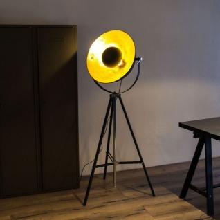 Licht-Trend Stage 3-Bein-Stehleuchte mit Reflektor Ø 50cm Schwarz Gold Chrom
