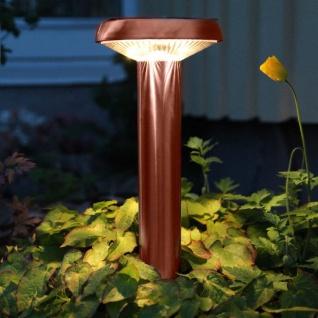 Premium LED Solarleuchte in Kupfer 45cm Solar Gartenlampe Gartenleuchte
