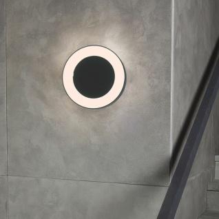 s.LUCE Hole LED-Aussenleuchte Ø 20cm Wand & Decke 10W Anthrazit Wandlampe Aussen