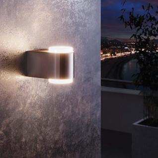 LED Aussen-Wandleuchte Briones 2-flg. Edelstahl