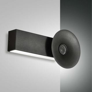 Fabas Luce LED Wandleuchte Aretha mit Lautsprecher 1800lm Schwarz
